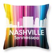 Nashville Tn 2 Throw Pillow