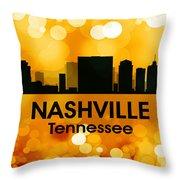 Nashville Tn 3 Throw Pillow