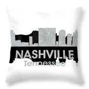 Nashville Tn 4 Throw Pillow by Angelina Vick