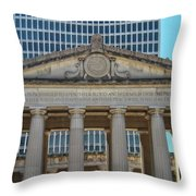 Nashville War Memorial Auditorium Throw Pillow