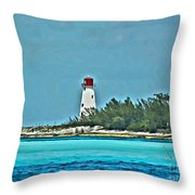 Nassau Bahama Lighthouse Throw Pillow