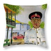 Nassau Bahamas Policeman Throw Pillow