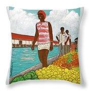 Nassau Woman Throw Pillow