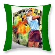 Natalie Gulbis Throw Pillow