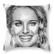 Natalie Portman In 2011 Throw Pillow