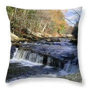 Natchaug River Falls Throw Pillow