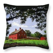 Nathan Hale Homestead Coventry Connecticut Throw Pillow
