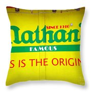 Nathan's Famous Throw Pillow