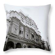 Nathmalji Ki Haveli Throw Pillow
