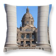 National Art Museum Of Catalonia In Barcelona Throw Pillow