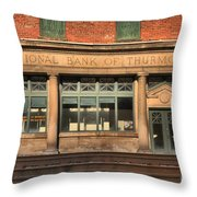 National Bank Of Thurmond Throw Pillow