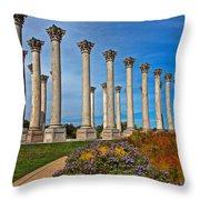 National Capitol Columns Throw Pillow