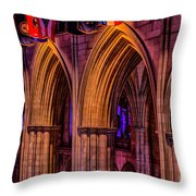 National Cathedral Arches Throw Pillow