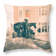 National Cowgirl Museum V2 Throw Pillow