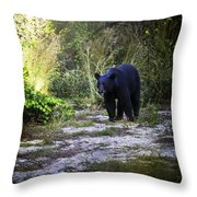 National Forest Bear Throw Pillow