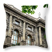 National Library In Vienna Austria Throw Pillow
