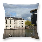 National Maritime Museum In Amsterdam Throw Pillow