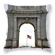 National Memorial Arch Throw Pillow by Olivier Le Queinec