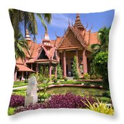 National Museum In Phnom Penh Throw Pillow
