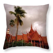 National Museum Of Cambodia Throw Pillow
