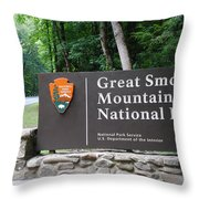 National Park Throw Pillow by Frozen in Time Fine Art Photography