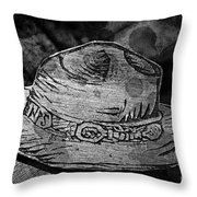 National Park Service Ranger Hat Black And White Throw Pillow