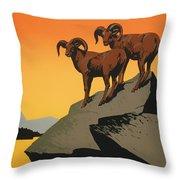 National Parks Preserve Wildlife Vintage Poster 1938 Throw Pillow
