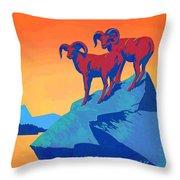 National Parks Wild Life Poster Throw Pillow