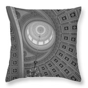 National Statuary Rotunda Bw Throw Pillow