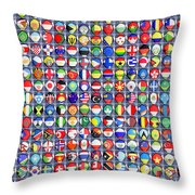 Nations United Throw Pillow