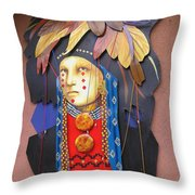 Native American Artwork Throw Pillow