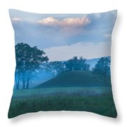 Native American Burial Ground Throw Pillow