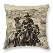 Native American Cowboys Throw Pillow