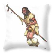 Native American Dancer Throw Pillow