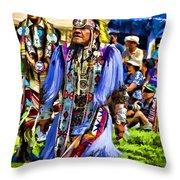 Native American Elder Throw Pillow