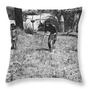 Native American Games Throw Pillow