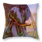 Native American Grass Stomping Dance 20 Throw Pillow