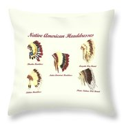 Native American Headdresses Number 4 Throw Pillow