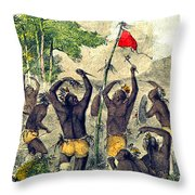 Native American Indian War Dance Throw Pillow
