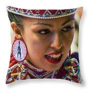Native American Princess Throw Pillow
