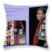 Native American Proverb Throw Pillow