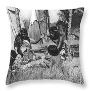 Native American Story Telling Throw Pillow