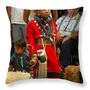 Native American Youth Dancer Throw Pillow