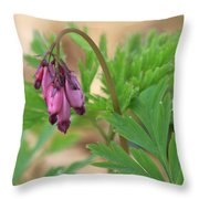 Native Bleeding Hearts Throw Pillow