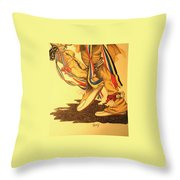 Native Dancer's Feet 1 Throw Pillow