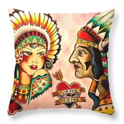 Native Flash Sheet Throw Pillow