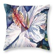 Native Hawaiian Hibiscus Throw Pillow