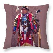 Native Hoop Dancer Throw Pillow