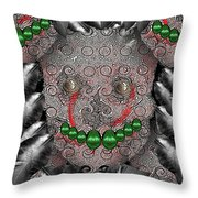 Native Indian Skull Art Throw Pillow