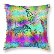 Native Legends I Throw Pillow